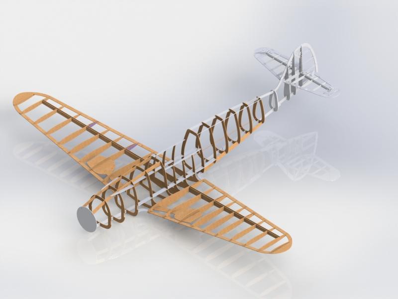 Макет Messerschmitt Bf 109G (3D-модель)
