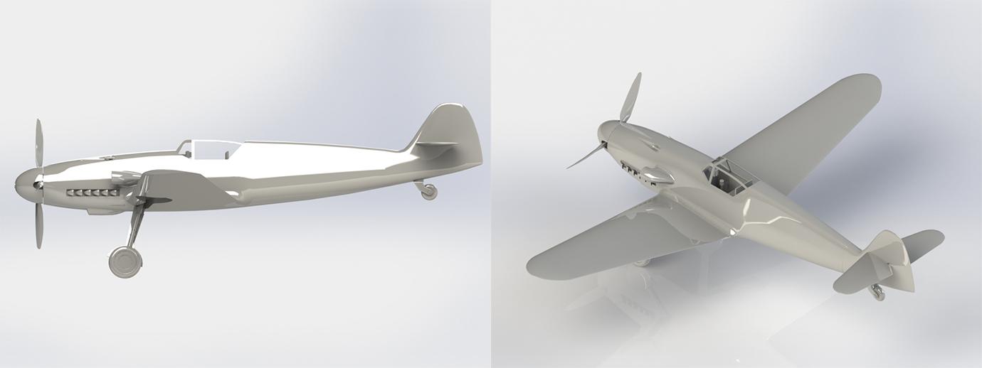3D-модель Messerschmitt Bf 109G в SolidWorks