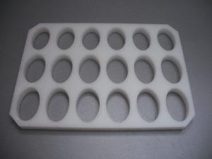 Изготовление пластиковых форм для пищевой промышленности.