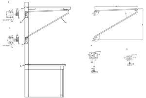 Детали откидного сидения багажного вагона